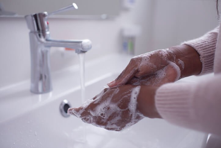 washing hands with soap - best joint replacement surgeons in portsmouth nh